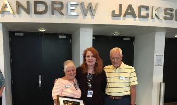 Deb and Howard Thompson with Kathleen O'Brien