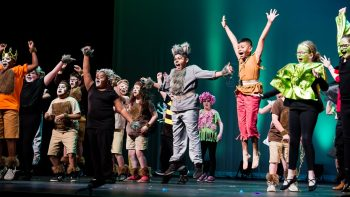 students performing The Jungle Book KIDS on stage