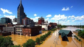 downtown Nashville flooded